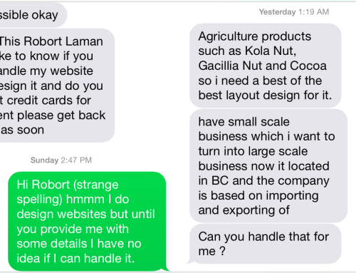 Ah, the web design scam